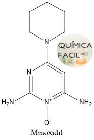 Estructura del minoxidil