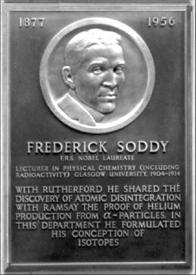 Placa en honor a Frederick Soddy