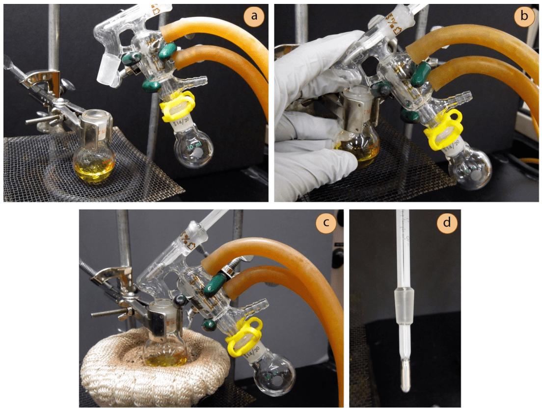 Montaje destilación recorrido corto