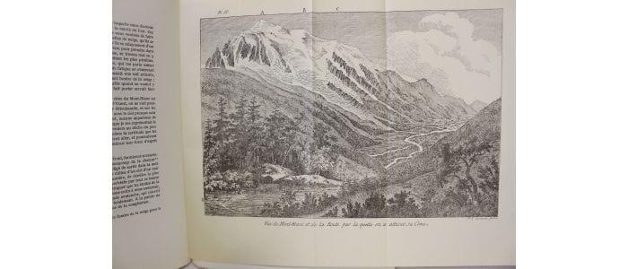 Dibujo del Mont Blanc hecho por Nicolas-Théodore de Saussure