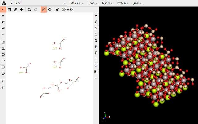 Estructura cristalina en MolView