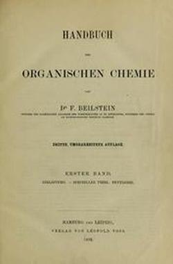 Portada del Handbuch der organische Chemie