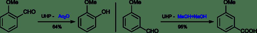 Reacciones de los metoxifenoles con UHP