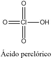 Estructura 2D del ácido perclórico