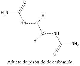 Estructura 2D del peróxido de carbamida