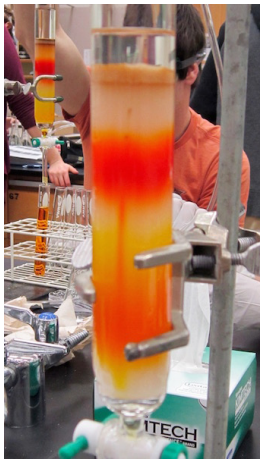 Figura 15: Efecto de una pipeta rota en una columna.