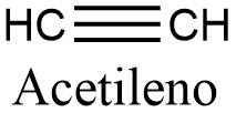 Estructura 2D del acetileno