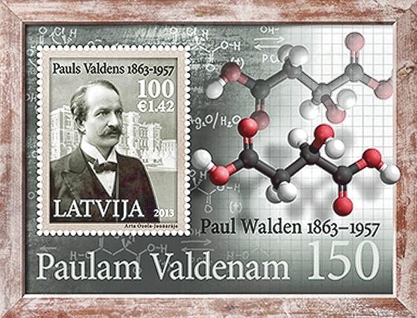 Un sello de Letonia honra el aniversario del nacimiento de Walden.