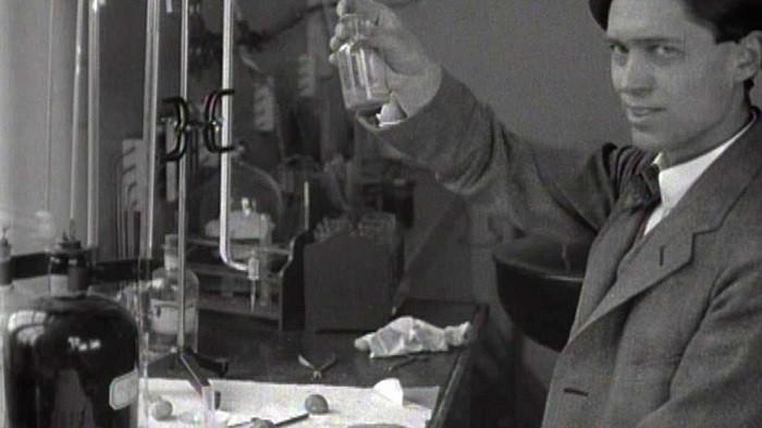 Theodor Svedberg en el laboratorio