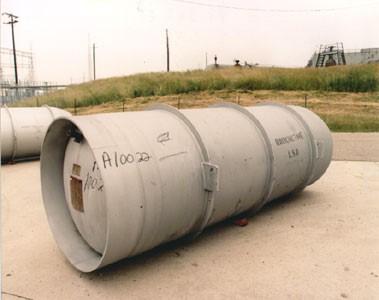 Tanque de almacenamiento de hexafluoruro de uranio