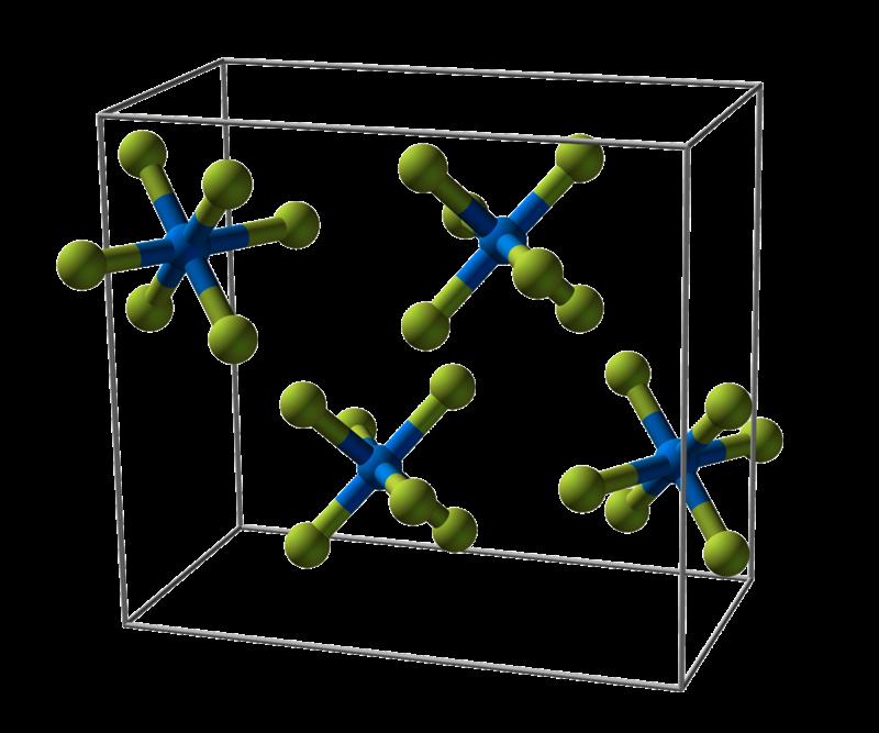 Celda unitaria de hexafluoruro de uranio