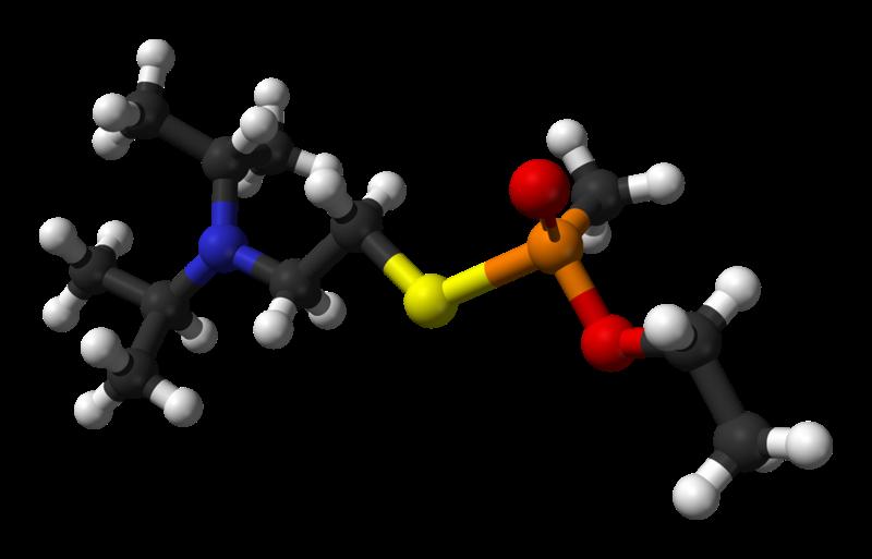 Modelo de bola y palo de VX ((R)-fosfinato)