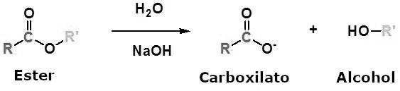 Reacción general de saponificación