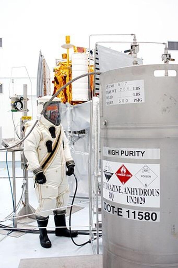 Recipiente de hidracina de alta pureza