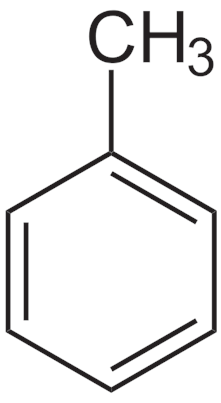 Estructura del tolueno (metilbenceno)
