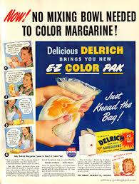 Publicidad de margarina con una capsula de colorante en su interior lista para mezclar